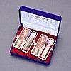 大吉-印鑑セット-2本-エンボス+Sケース付-L-オランダ水牛(芯持)-16.5mm13.5mm-手彫り仕上げ