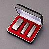 印鑑/法人設立 印鑑セット/シルバーチタン/3本SSMセット(丸寸胴16.5mm・丸寸胴16.5mm・角寸胴21mm)+セットケース付/熟練職人の作成印影